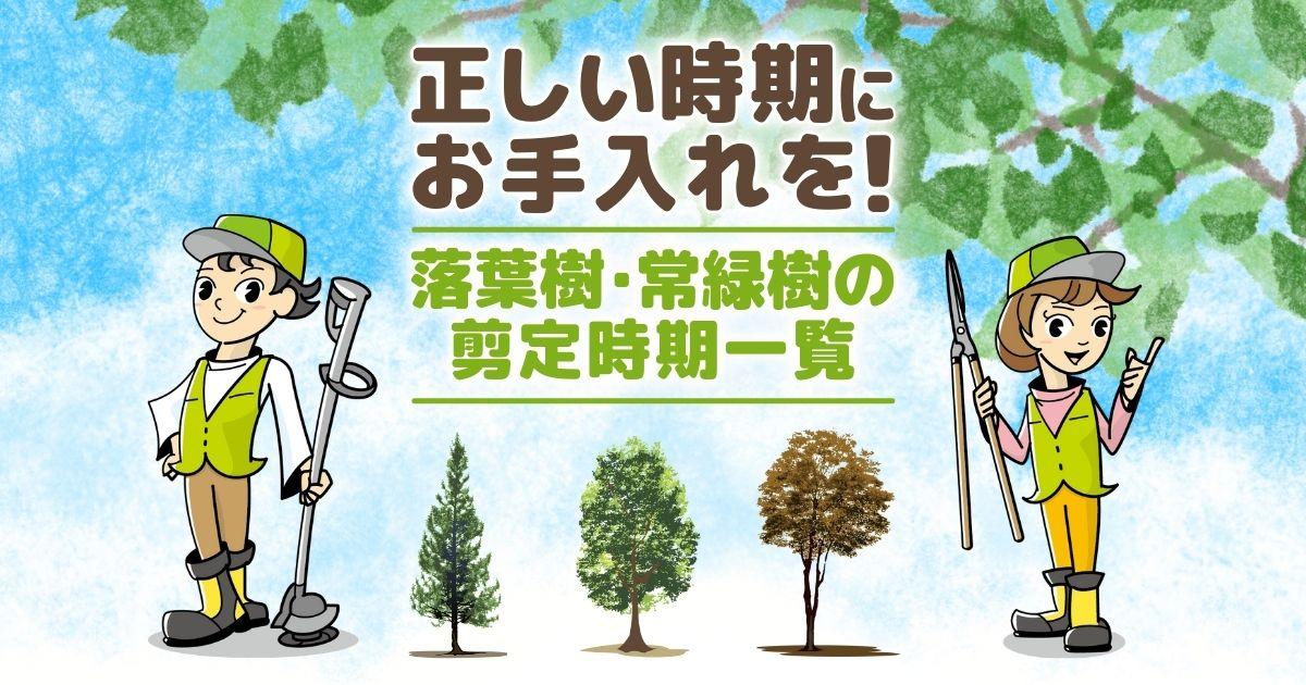 【剪定時期一覧表】庭木を枯らさず健康に保つ正しい手入れのタイミング